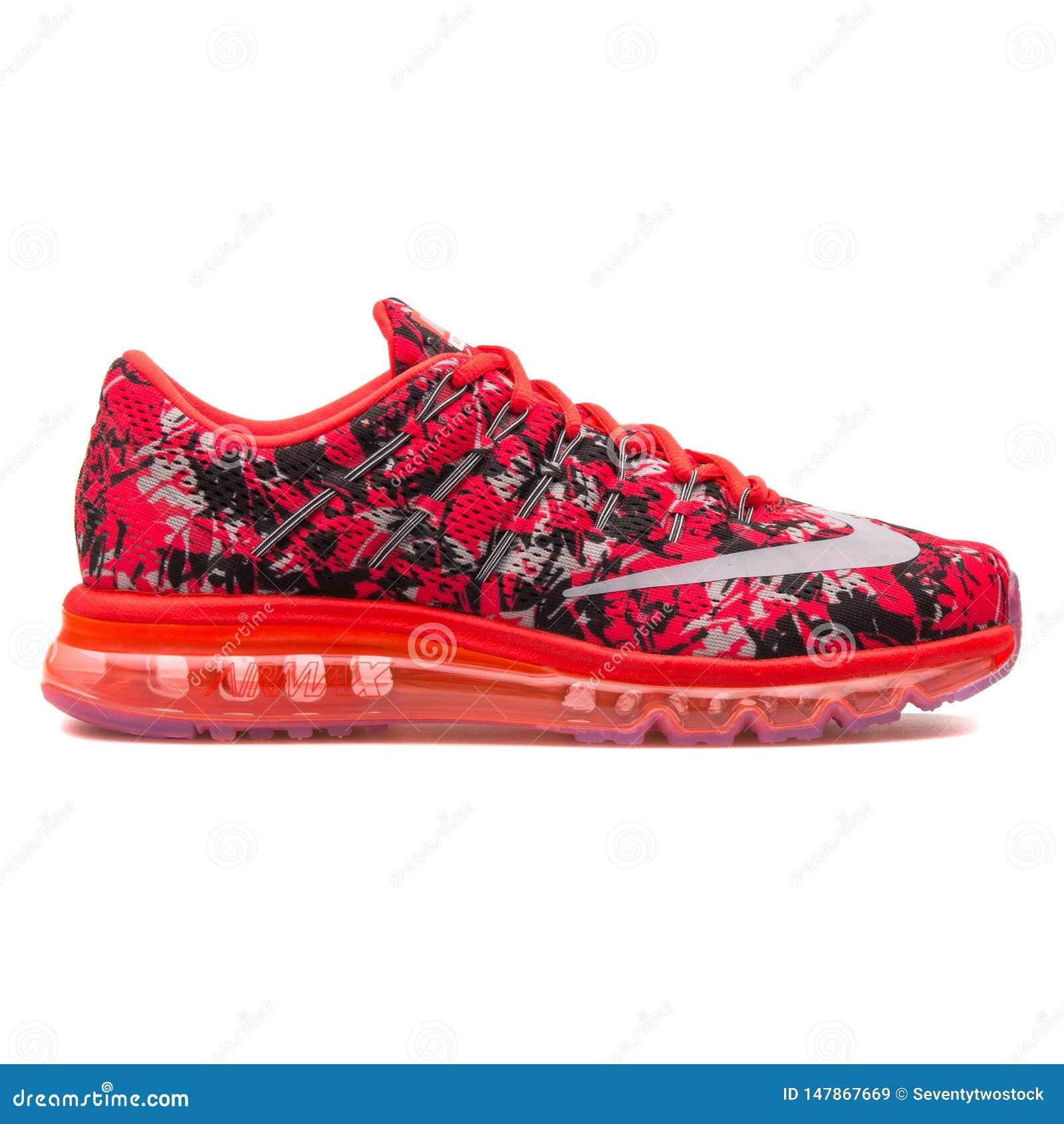 Nike Air Max 2016 Print Crimson And Black Sneaker Editorial