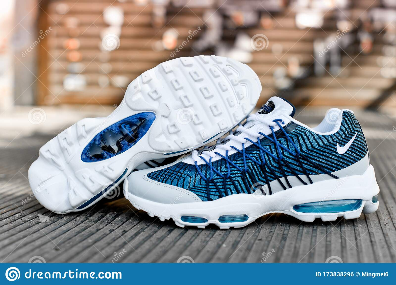 Nike Air Max 95 Ultra JCRD Running Shoes, Sneakers On Abstract ...