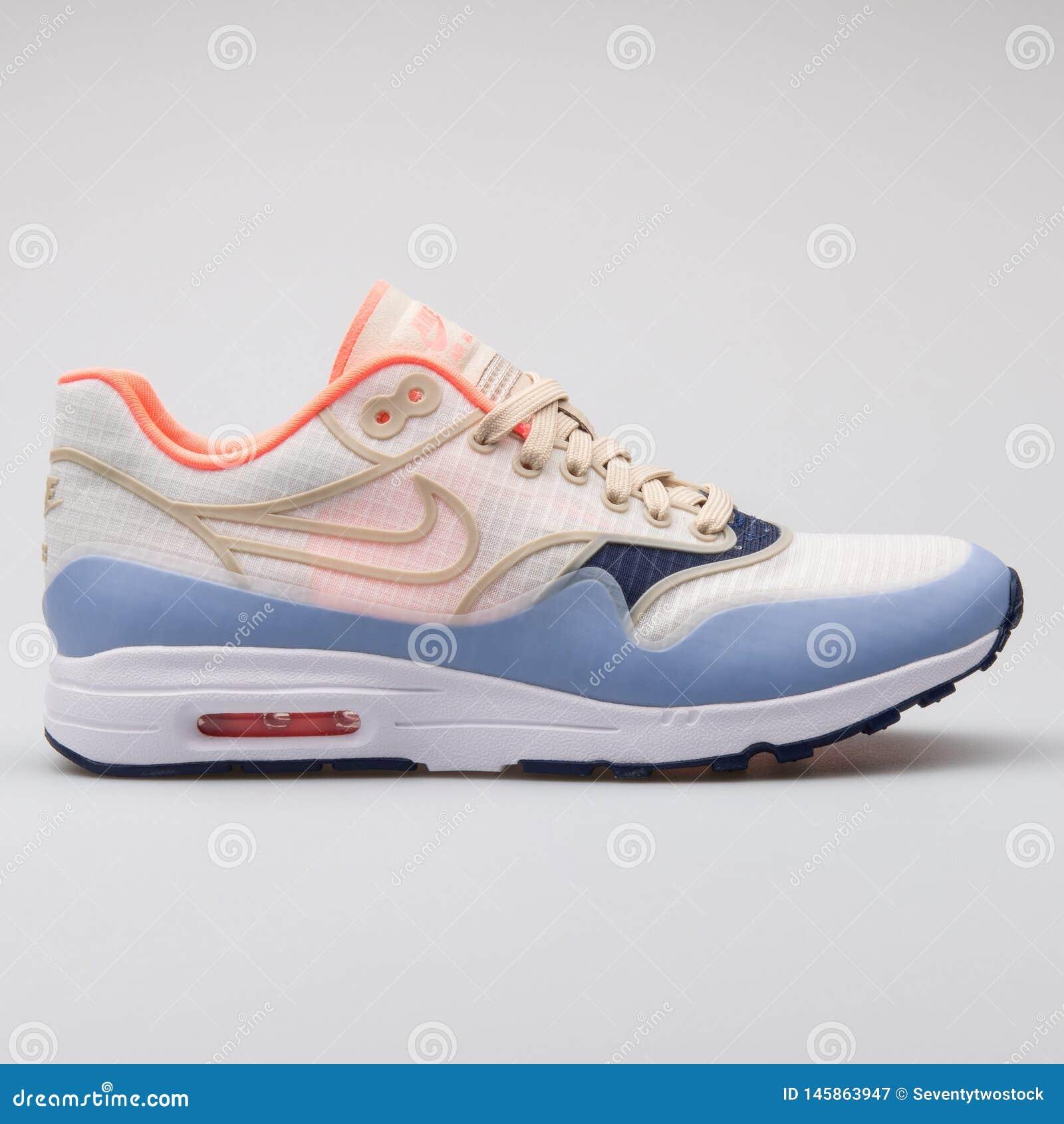 Nike Air Max 1 Ultra 2.0 SI Beige, Blue And Orange Sneaker ...