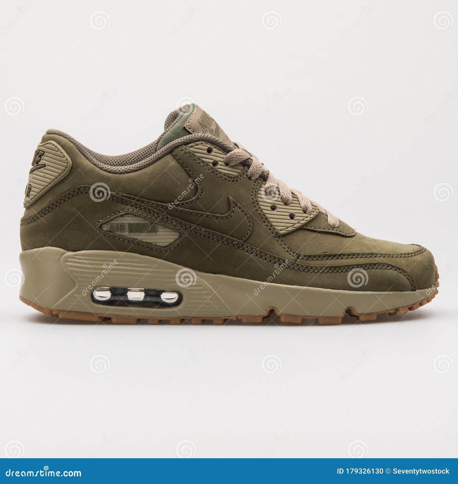 Nike Air Max 90 Winter Premium Olive Green Sneaker Editorial Image ...