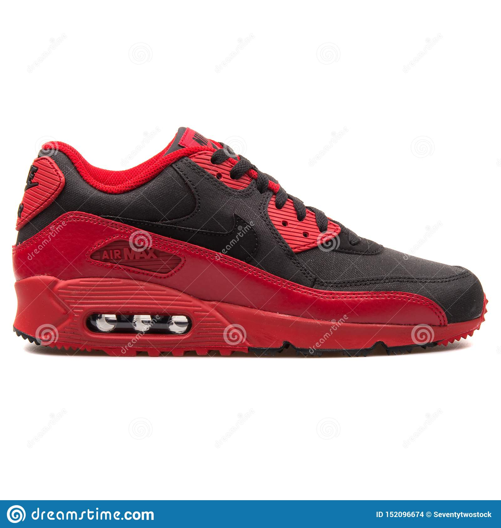 wholesale dealer c2c9c 615c0 Nike Air Max 90 Winter Premium Red And Black Sneaker ...