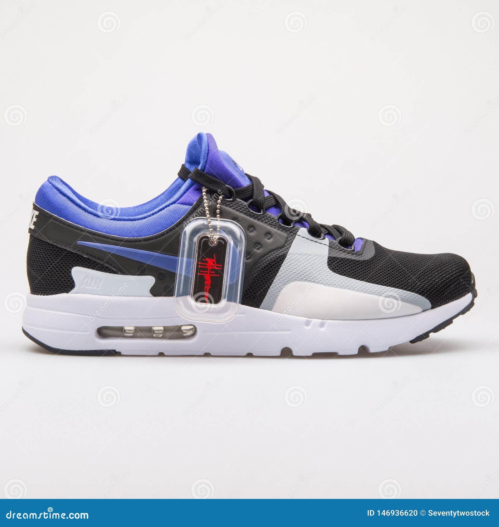 huge discount e481d e0f4b Nike Air Max Zero QS Black, Violet And White Sneaker ...