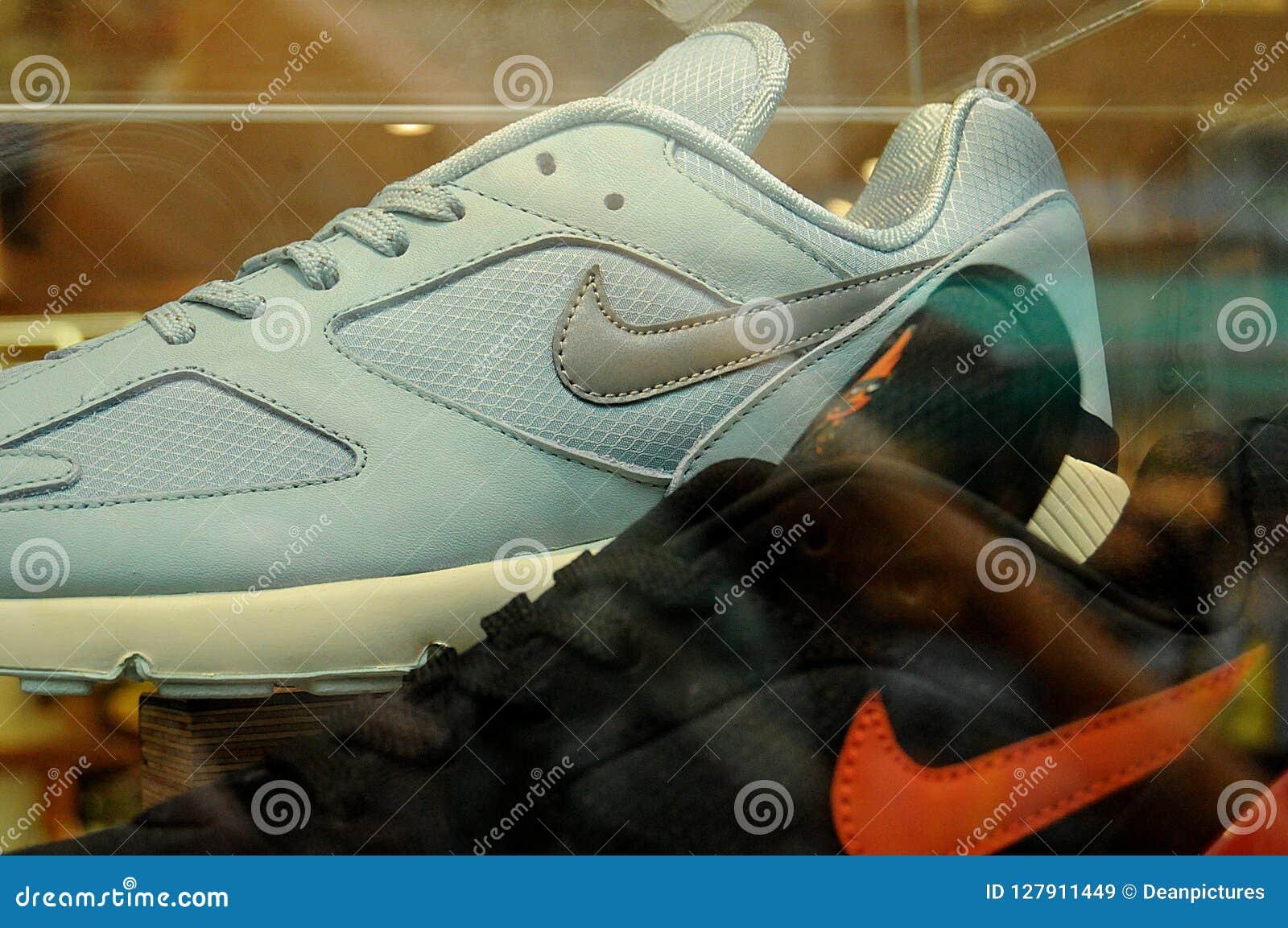 outlet store sale 43816 0f904 Copenhagen Denmark 04 October 2018.. Nike footwear dismplay in nike footwear  in danish capital, Copenhagen Denmark. . Photo.