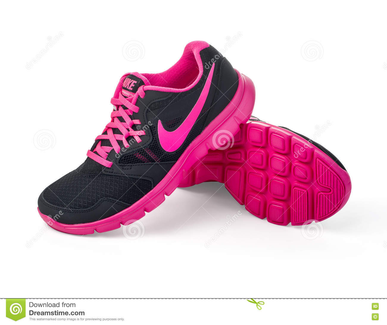 Nike lady s - women s running shoes. Editorial Stock Photo