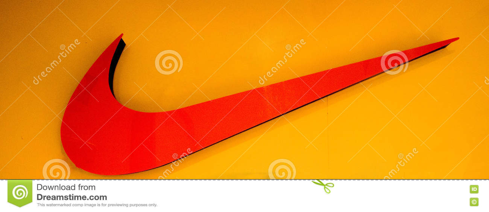 Nike Logo Redactionele Stock Foto Afbeelding Bestaande Uit