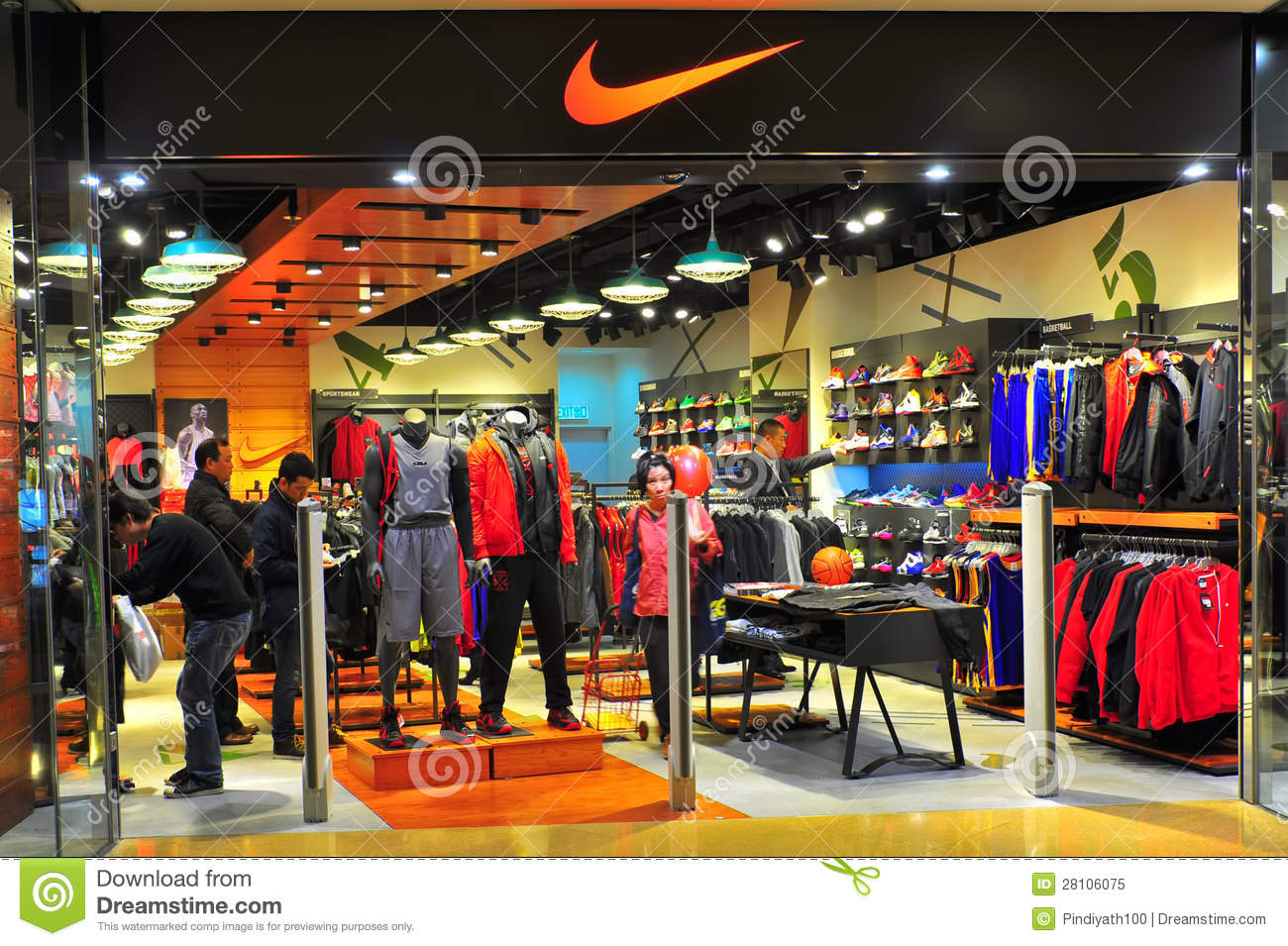a3919d844f241 Nike Store Or Outlet Hong Kong Editorial Image - Image of jackets ...