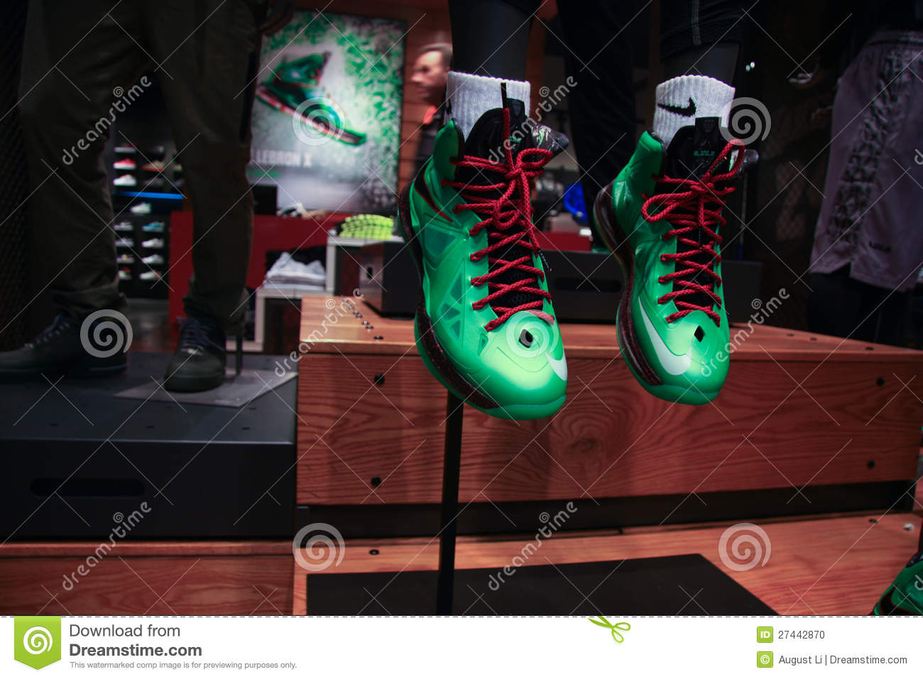 Nike shoes. Editorial Stock Photo