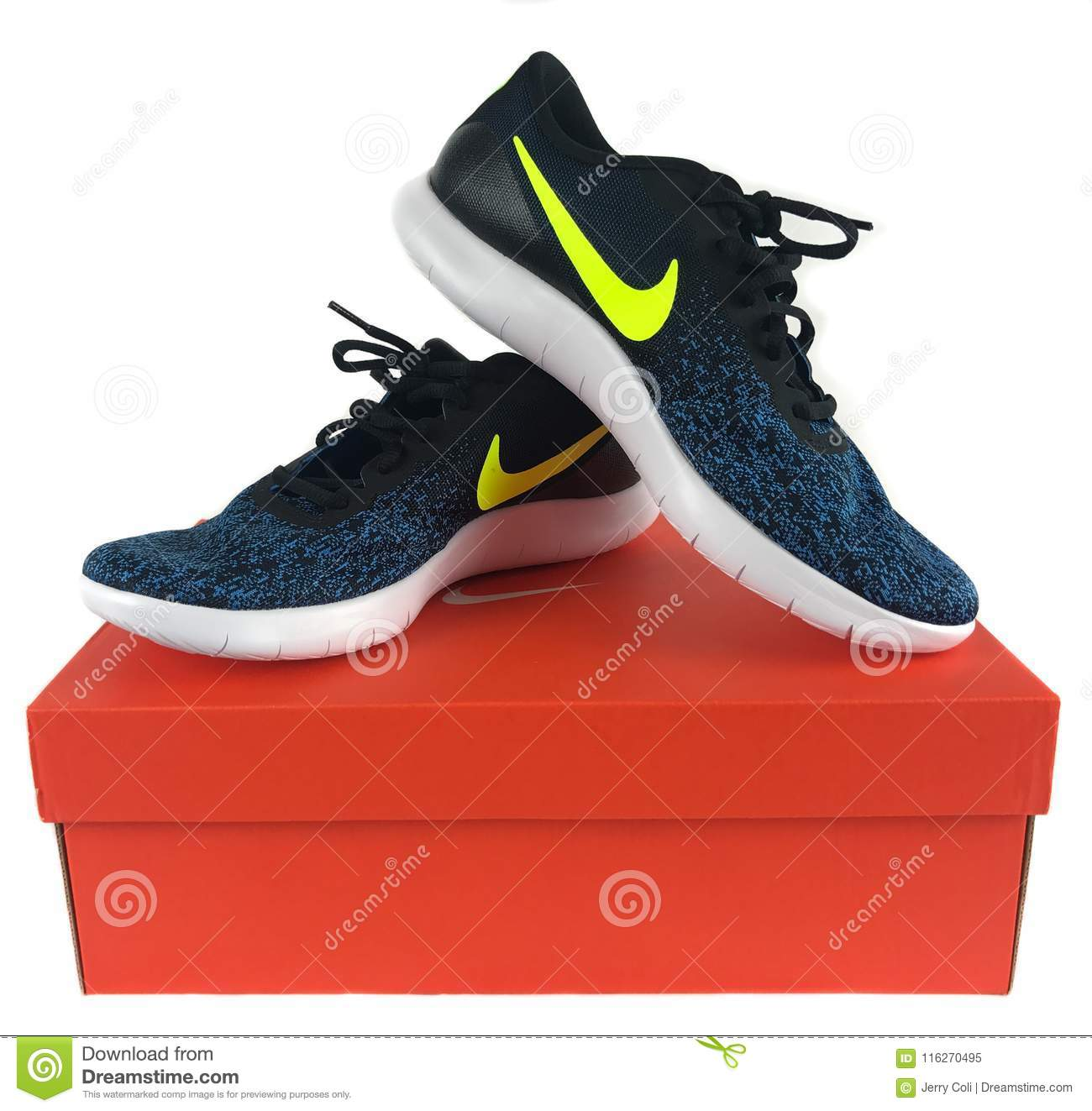 2b57eecdc875 Nike Sneakers For Sale At A Shoe Store Editorial Image - Image of ...