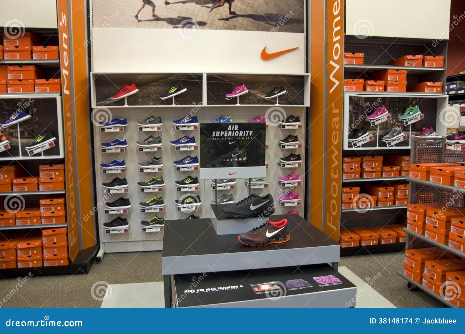 Nike sport wear shoes editorial stock