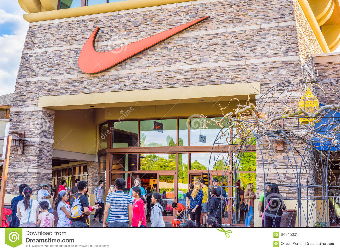 Nike Store Entrance Editorial Photo Image Of Accessories