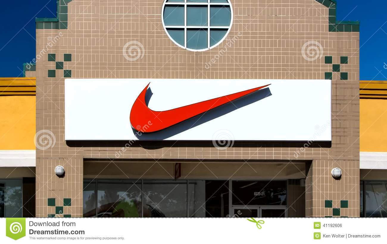 Nike Store Exterior Stock Footage Image Of Style Black