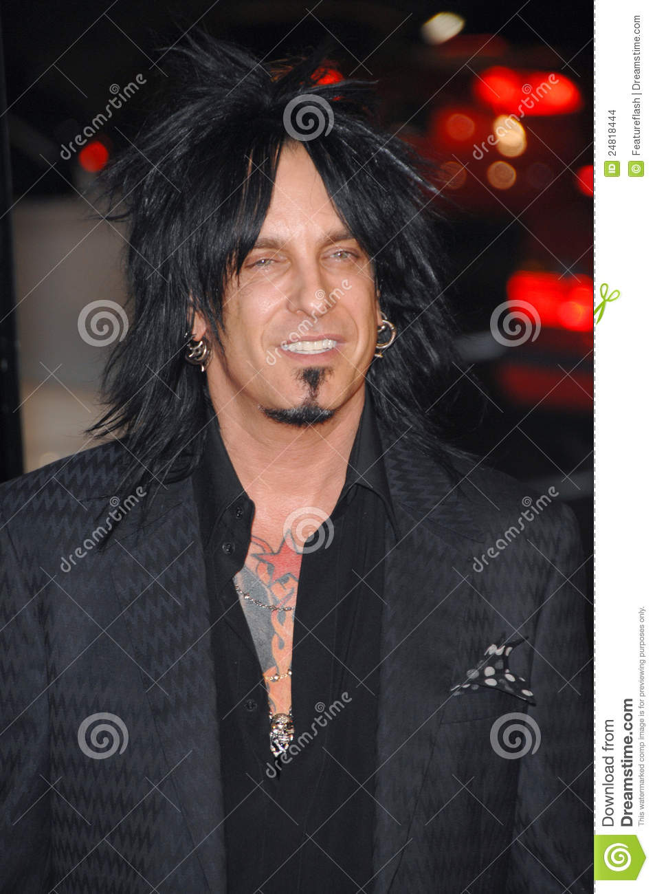 nikki sixx editorial stock image image 24818444