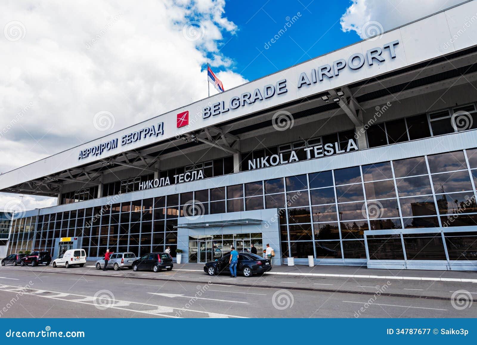 Nikola Tesla Airport Belgrade Serbia Editorial