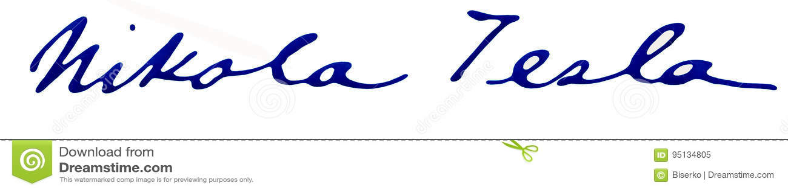 Nikola Tesla Autograph Editorial Image Image Of Physics 95134805
