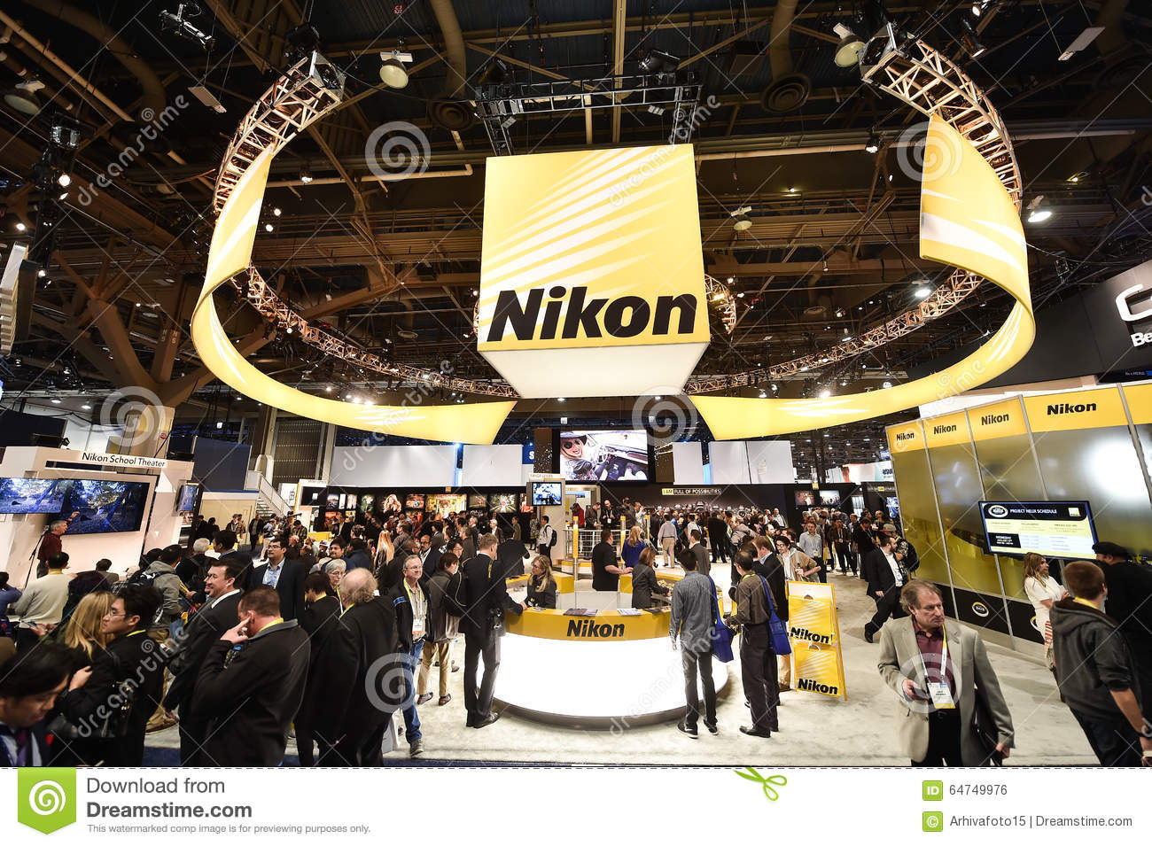 nikon at ces 2016 editorial photo image 64749976. Black Bedroom Furniture Sets. Home Design Ideas