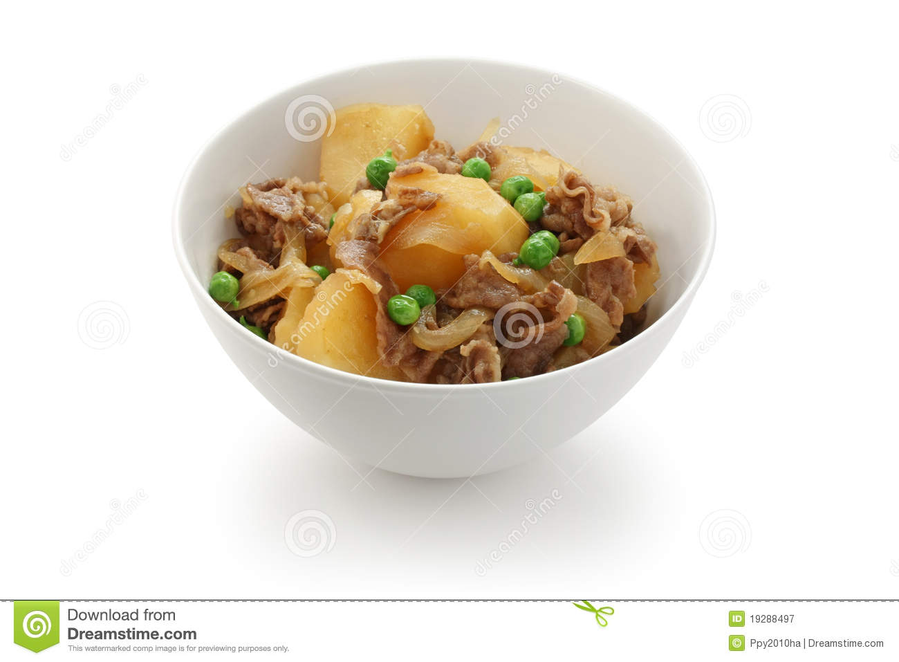 Nikujaga , Simmered Beef And Potatoes , Japanese F Royalty Free Stock ...