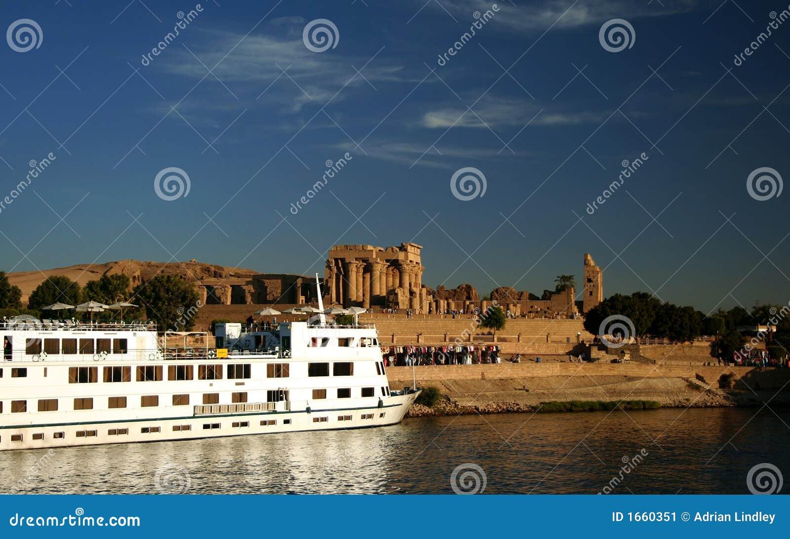 Nile Cruise Boat at Kom Ombo