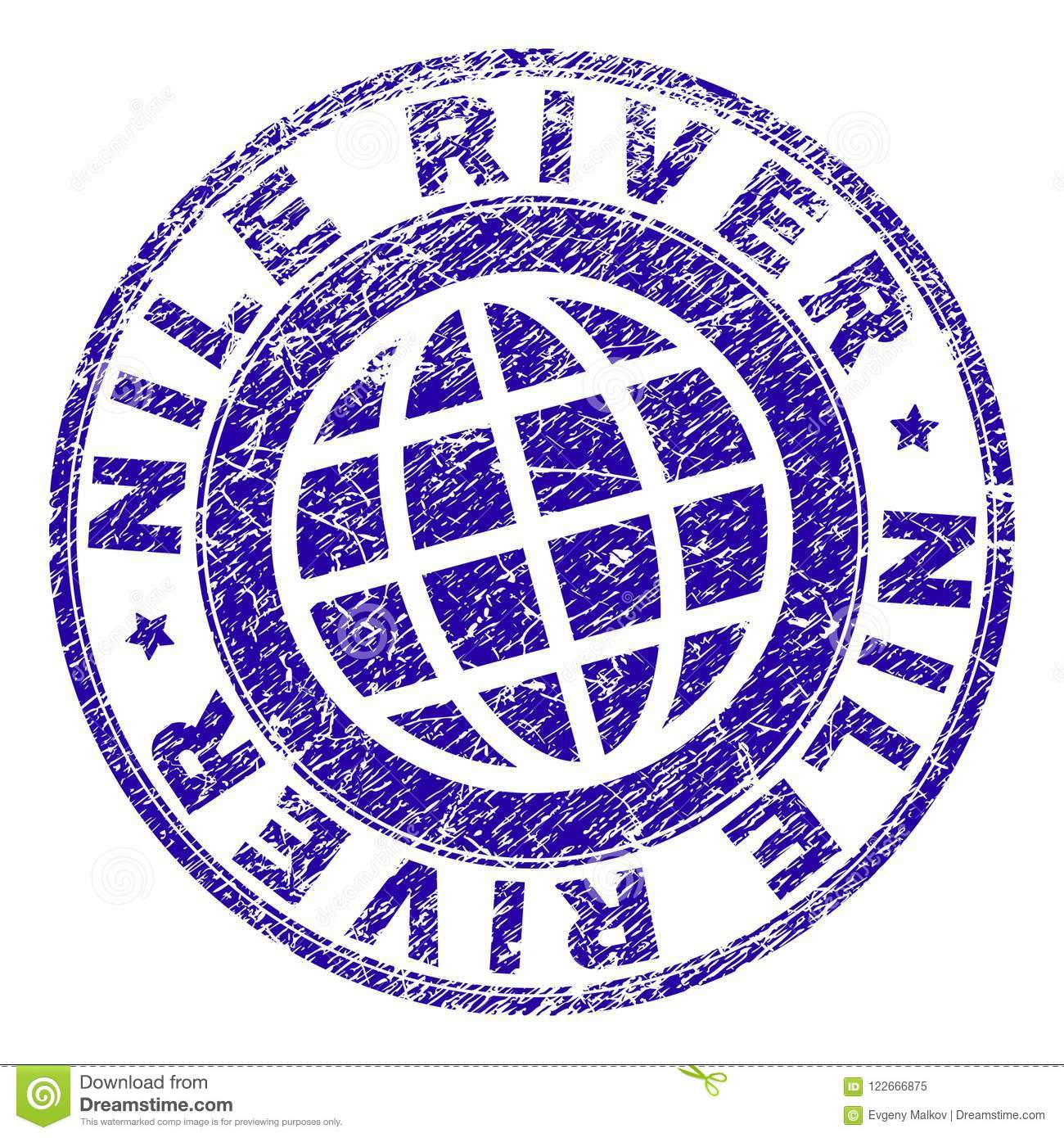 Grunge Textured Nile River Stamp Seal Stock Vector Illustration Of