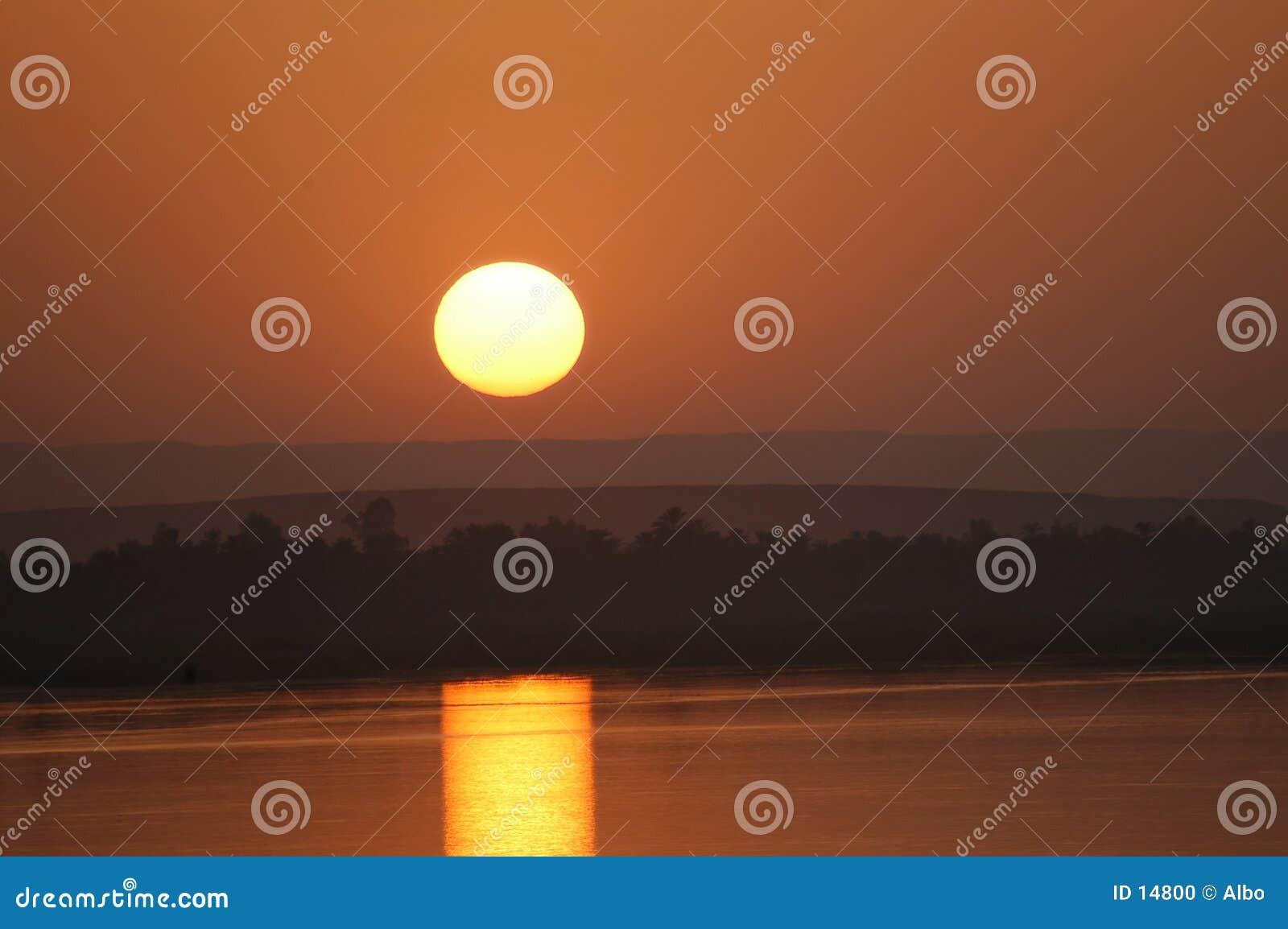 Nile solnedgång