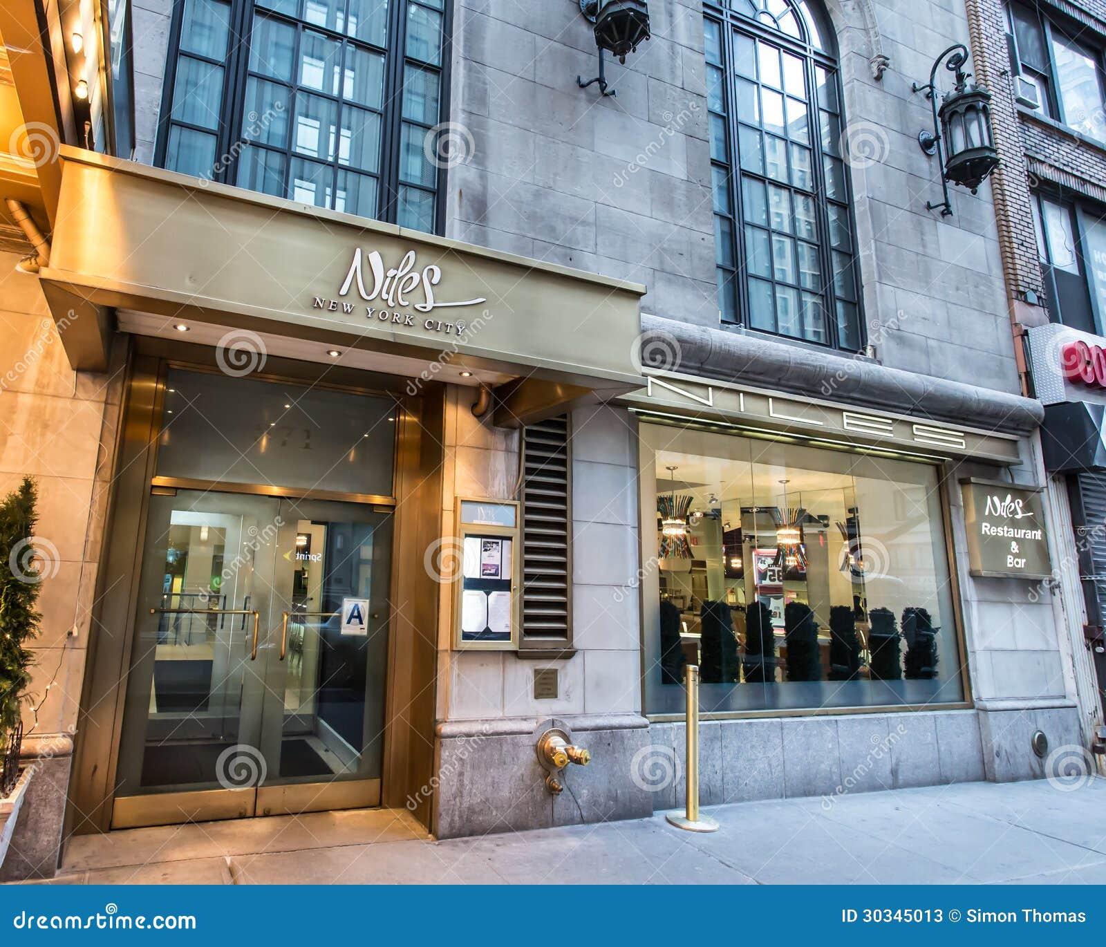 New York New York City: Niles Restaurant New York City Editorial Stock Photo