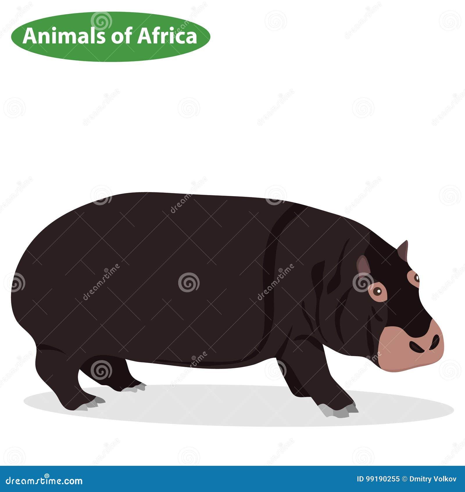 Nilpferd, eine Nilpferdikone, afrikanische Tiere