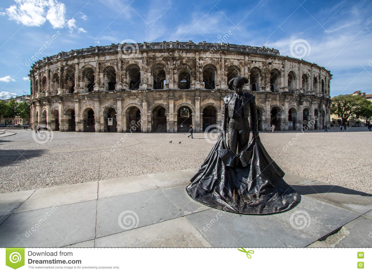 Nimes, France stock photo. Image of region, located, languedoc ...