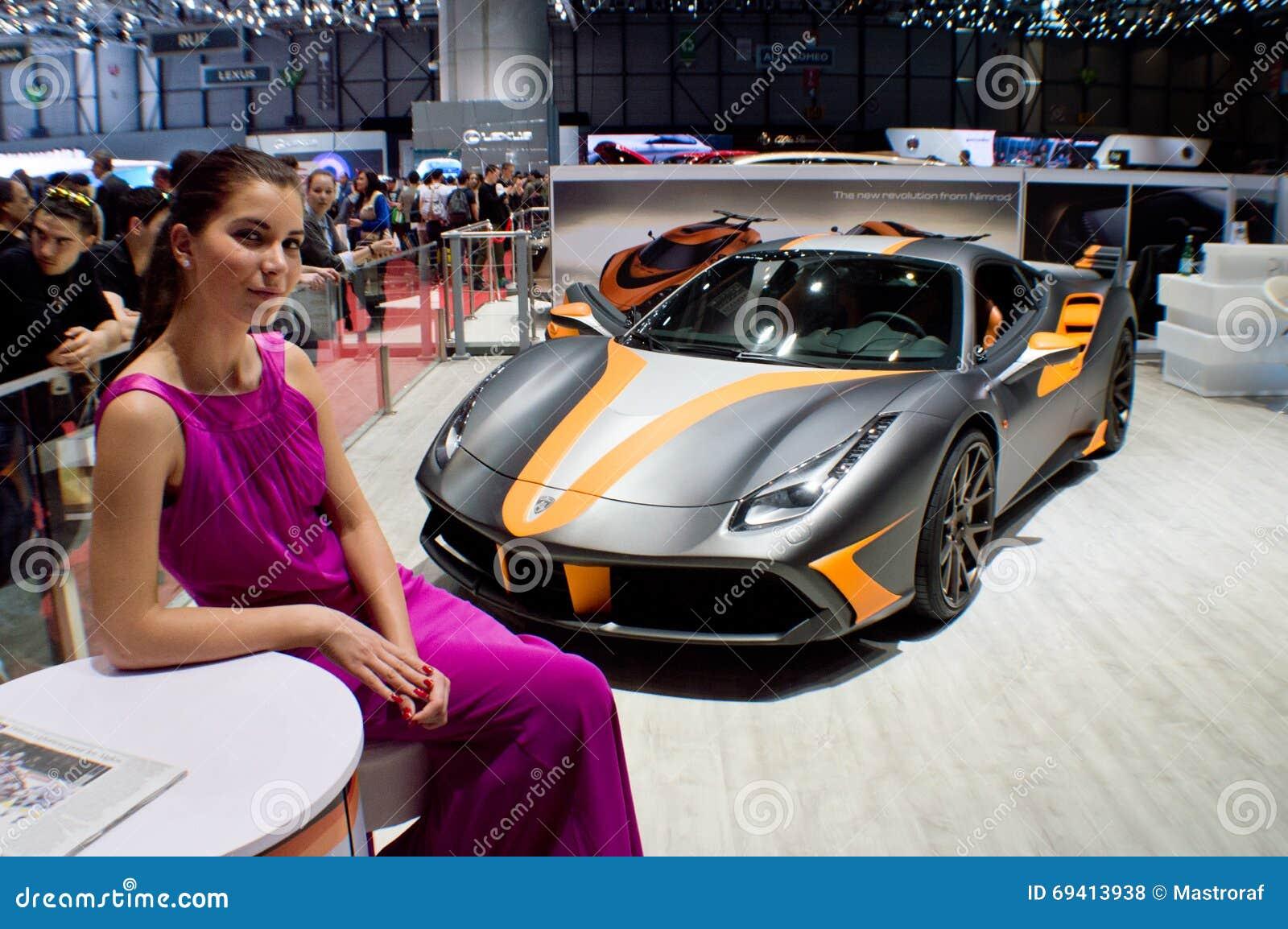 Nimrod hostess geneva 2016 editorial stock photo image - Salon de lauto geneve ...