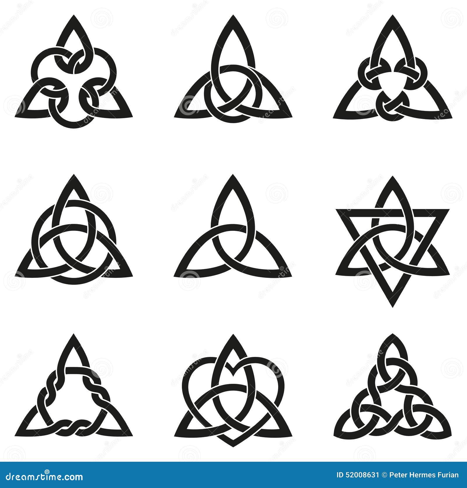 Nine Celtic Triangle Knots Stock Vector Image Of Magic 52008631
