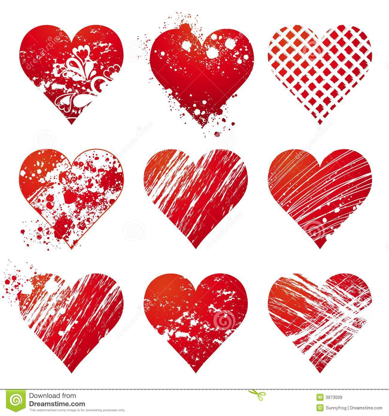 Nine Heart, Vector Royalty Free Stock Images - Image: 3973009