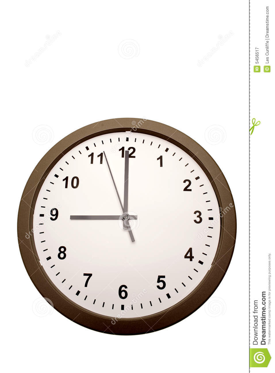 Nine O Clock Royalty Free Stock Photography Image 5456517