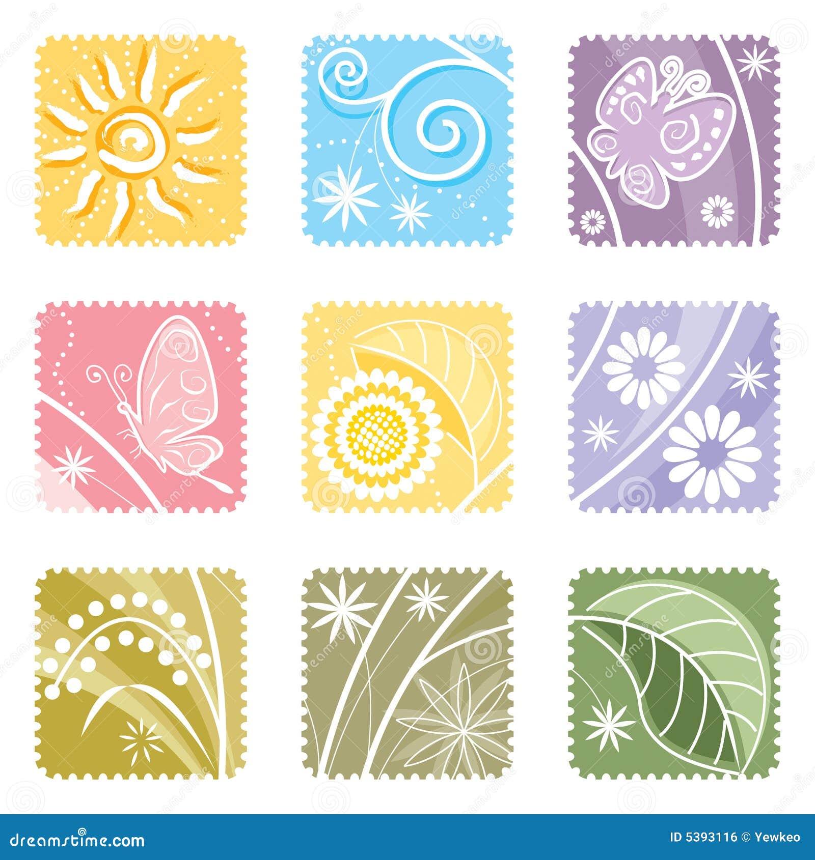 Nine in One floral label