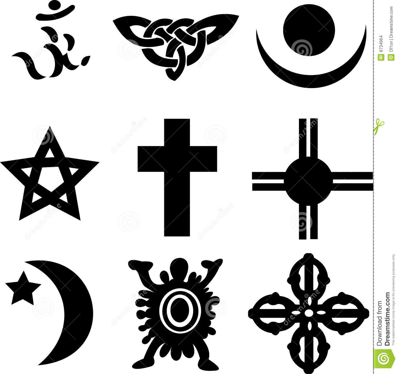 Nine religious symbols stock vector illustration of ministry nine religious symbols buycottarizona