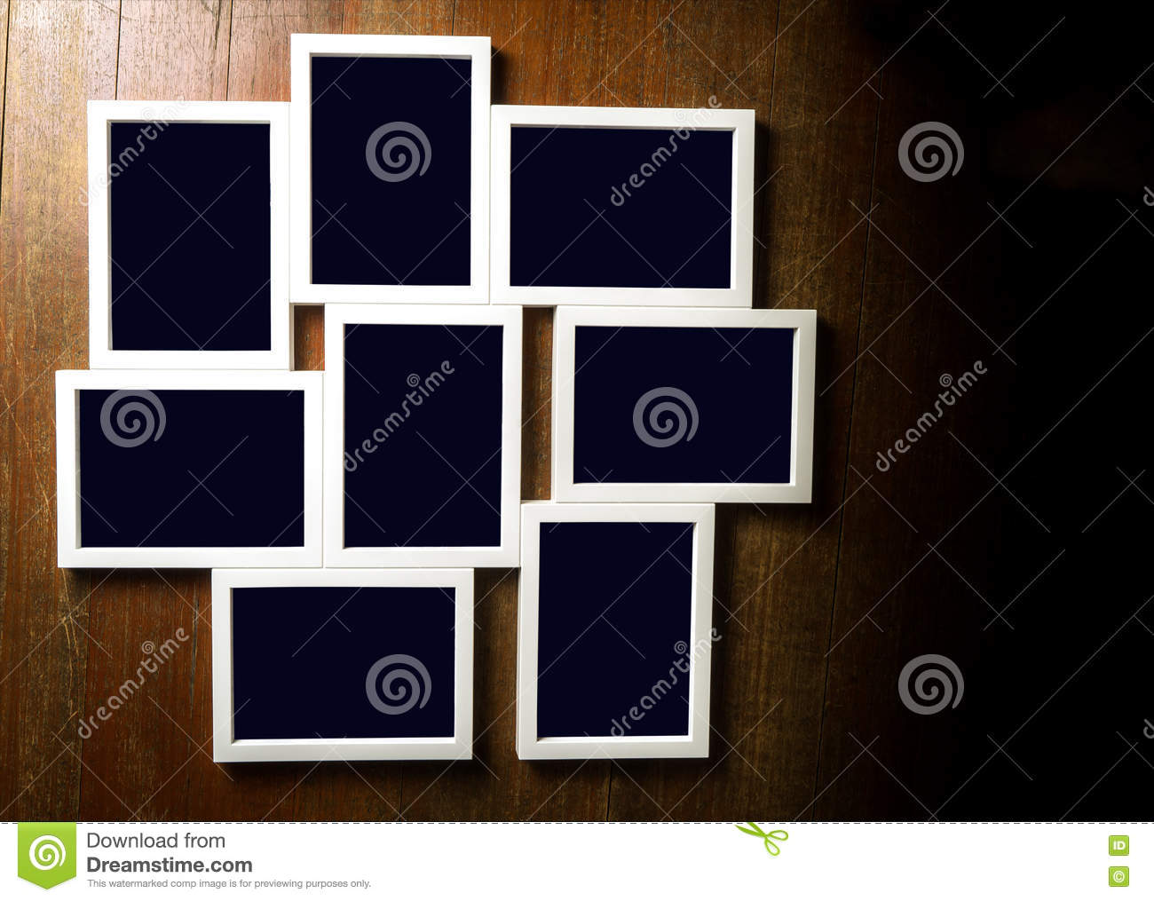 Nine Set Of Picture Frame For Template With Clipping Path