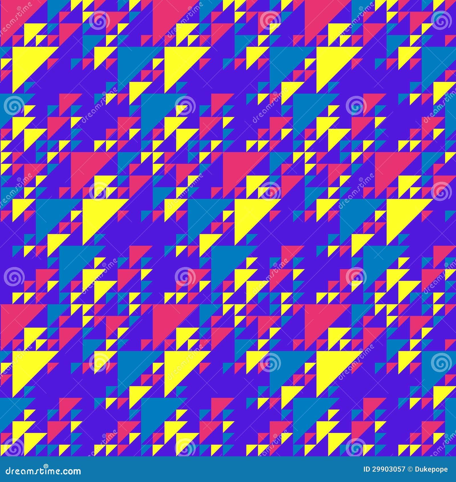 Retro Beach Illustration Royalty Free Stock Photo: Retro Triangles Background Stock Vector. Illustration Of