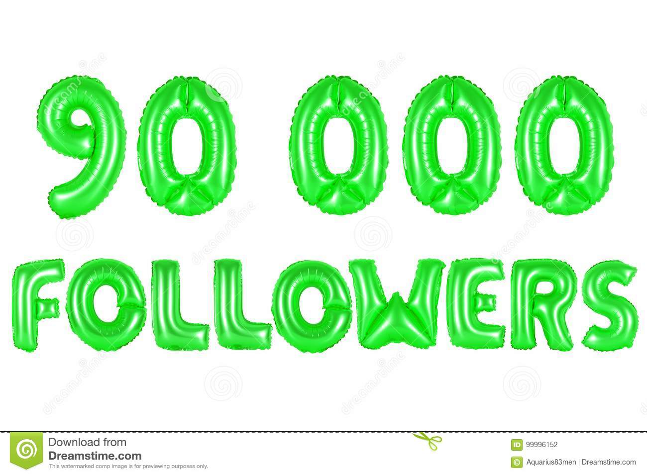 Ninety Thousand Followers, Green Color Stock Photo - Image of green ...