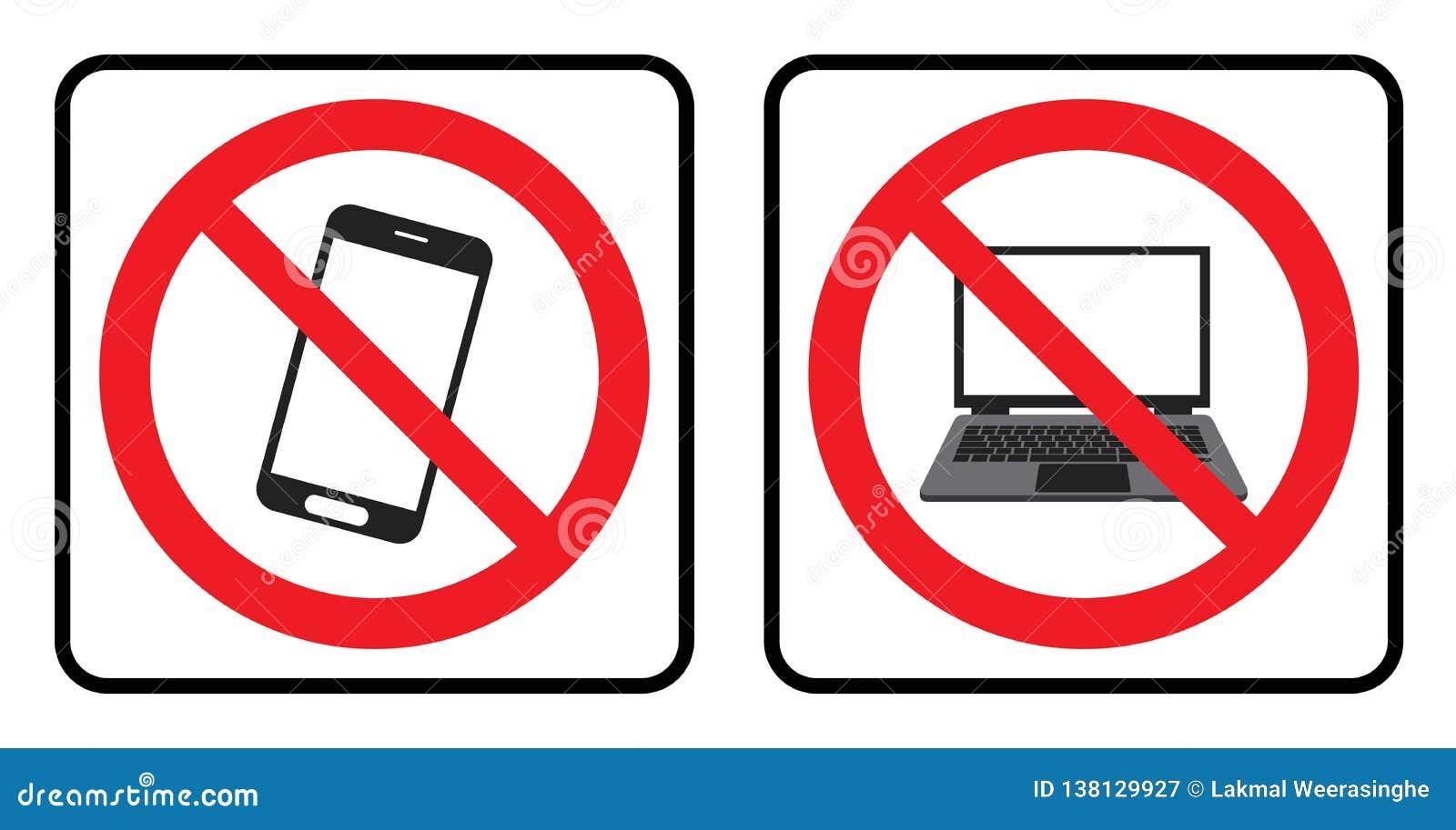 Ningún icono del teléfono y ningún icono del ordenador portátil