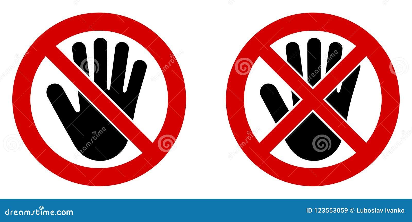 Ningún símbolo de entrada Icono de la mano negra en cruzado y doublecrossed con referencia a