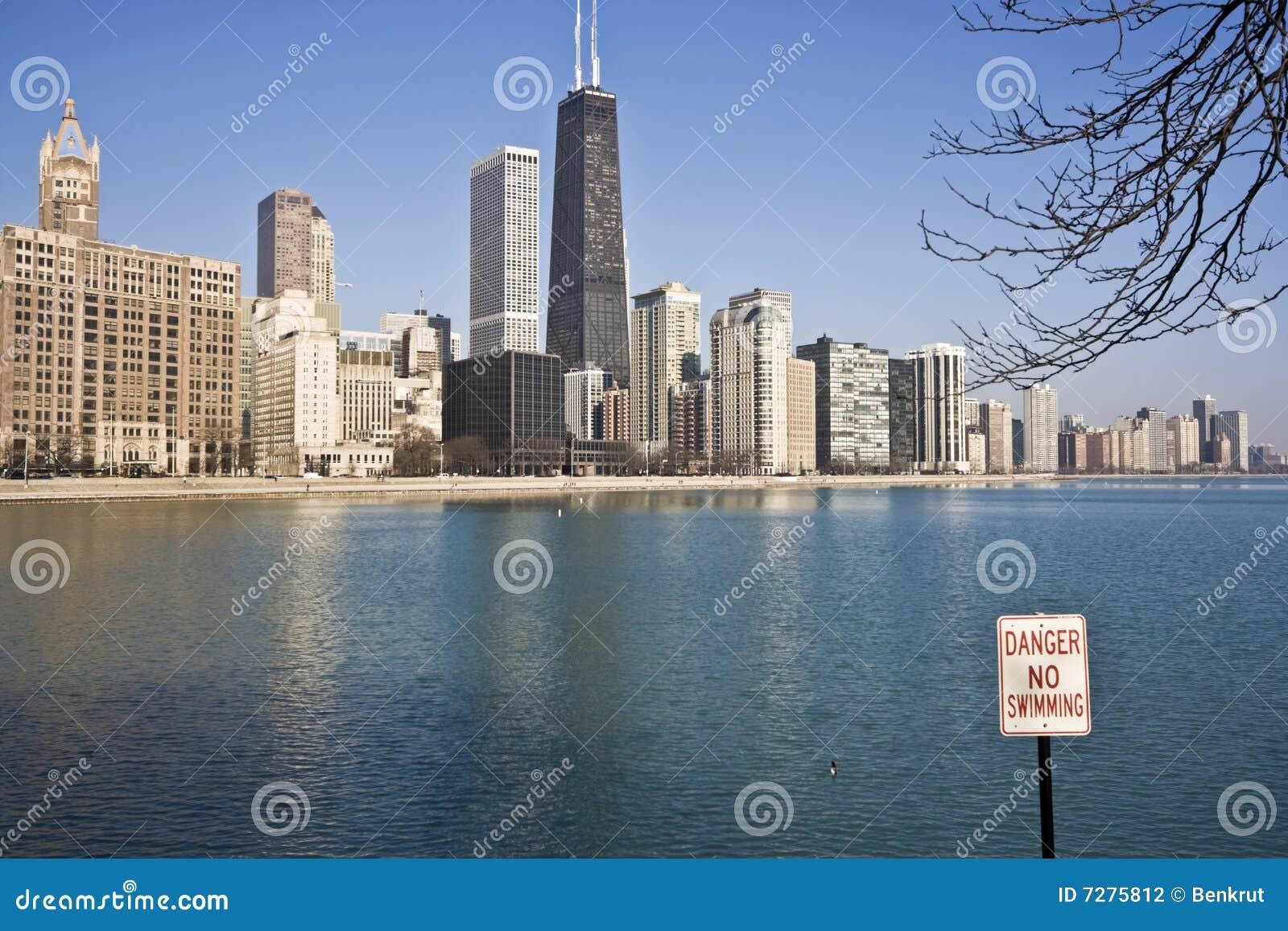 Ninguna natación en Chicago