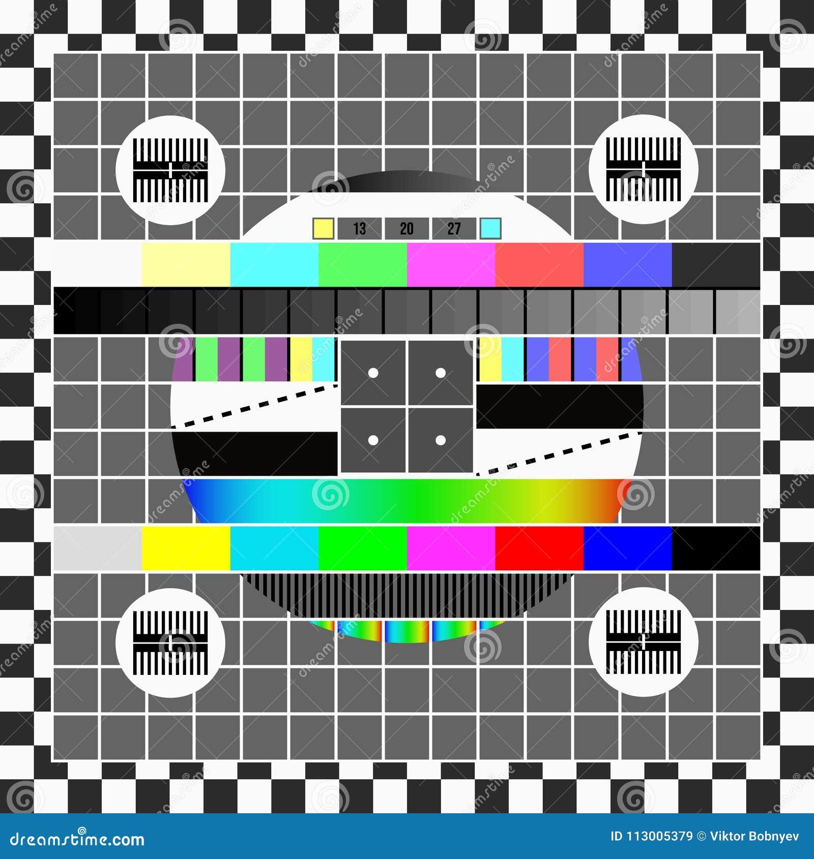 Ninguna Plantilla De La Pantalla De La Señal TV Ilustración del ...