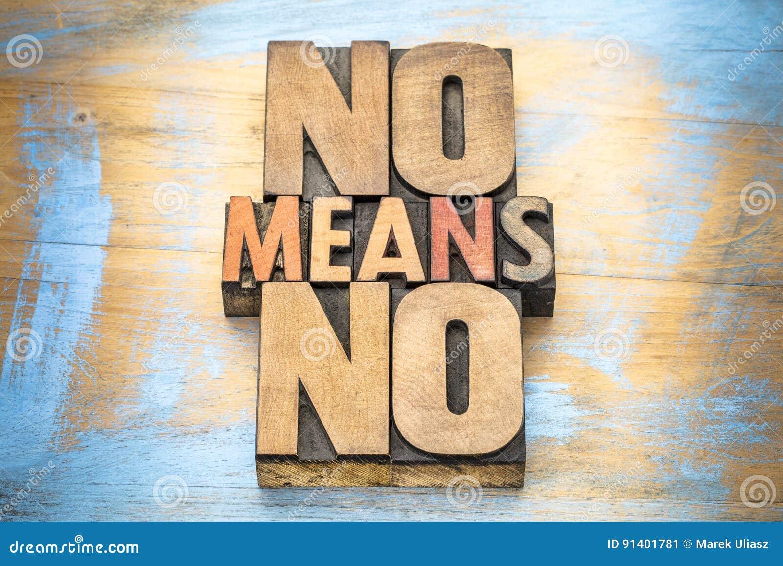 Ningunos medios lema de la anti-violación en el tipo de madera