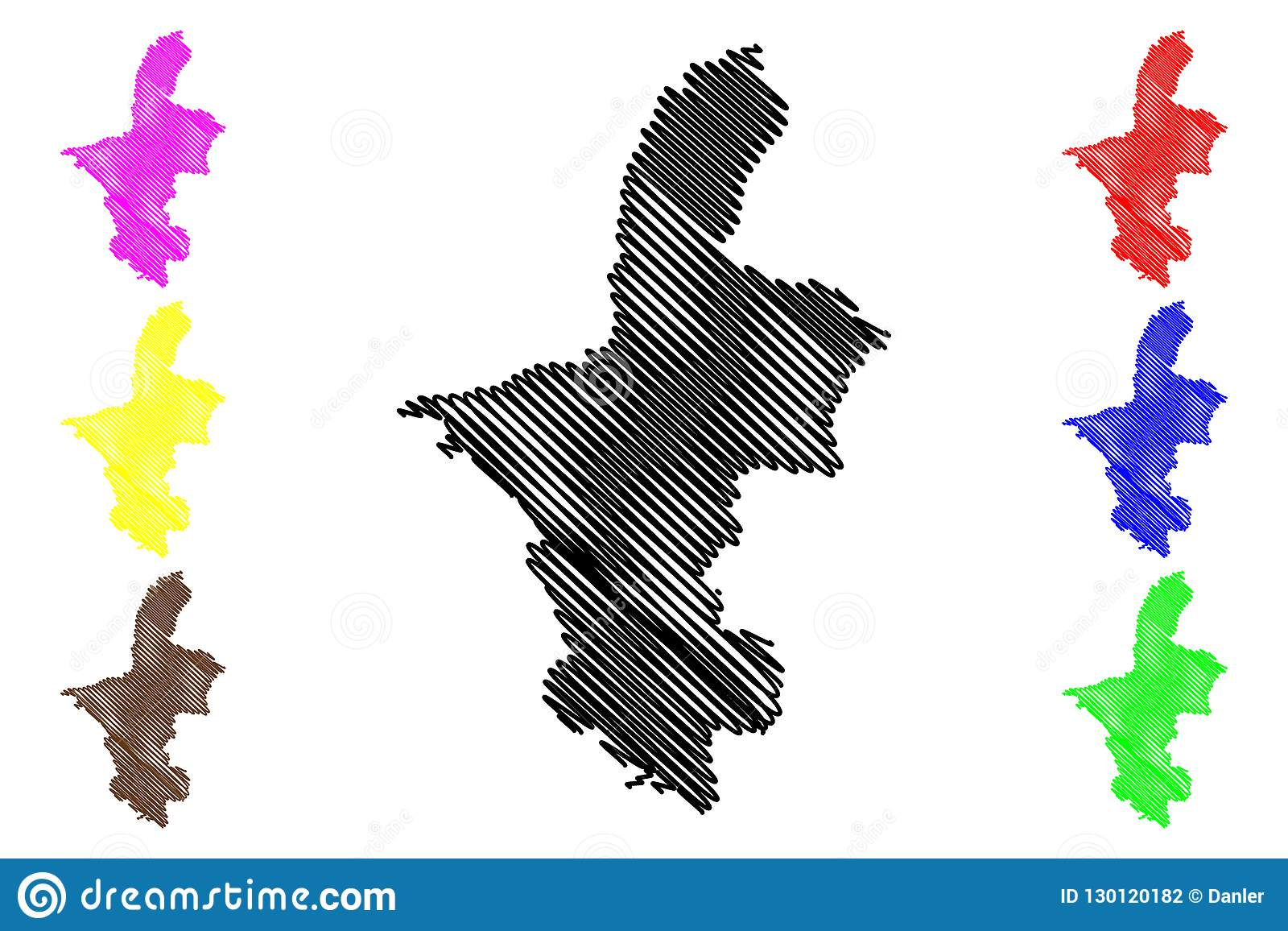 Ningxia China Map.Ningxia Hui Autonomous Region Map Vector Stock Vector Illustration