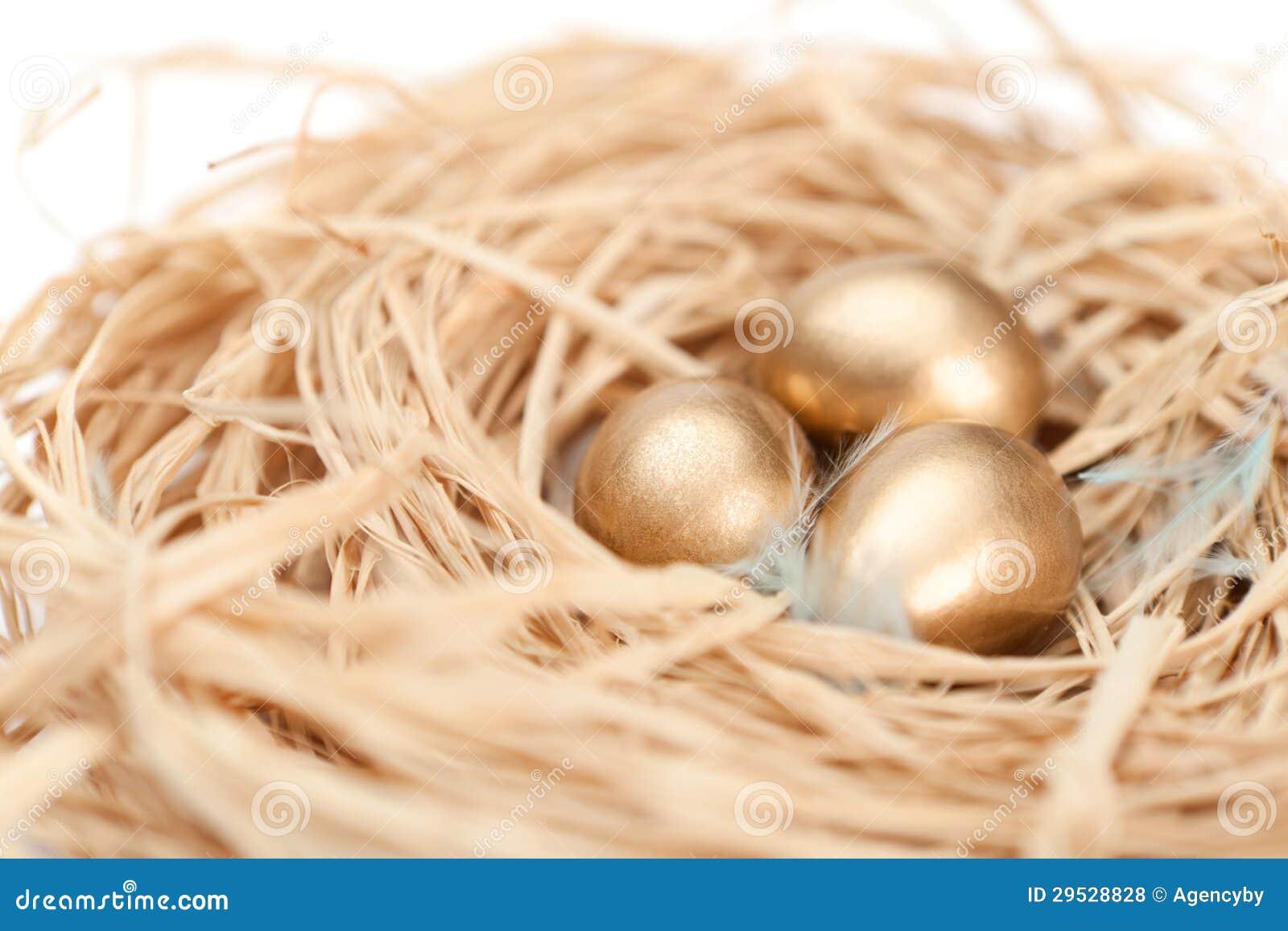 Ninho com ovos dourados