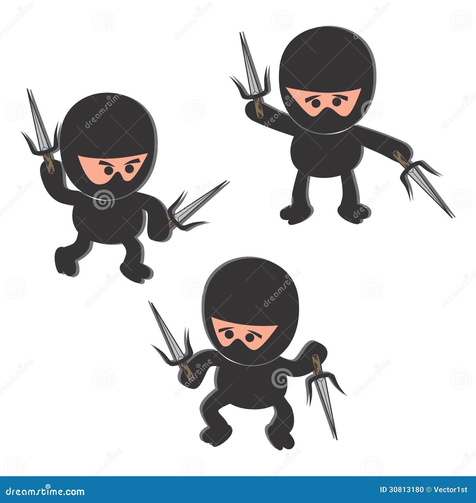 Graphic Design Cartoon Character : Ninja cartoon character stock photo image