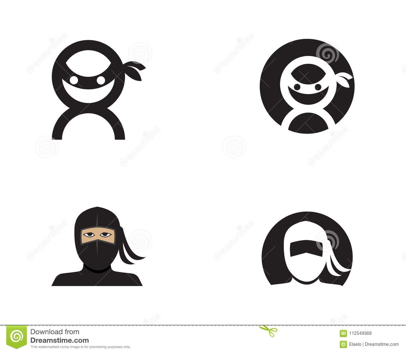 ninja icon vector illustration stock vector illustration of