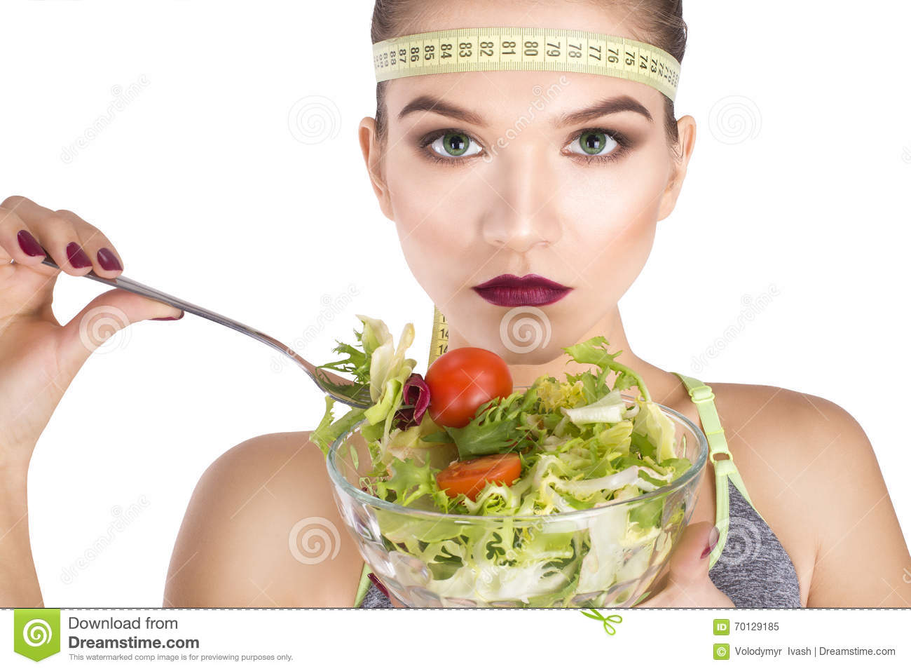 Ninja Portrait eating vegetables diet concept