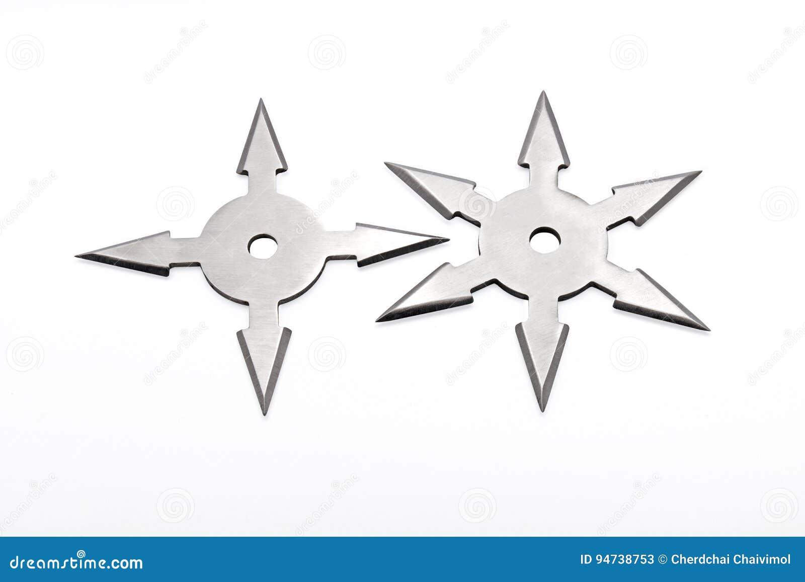 Ninja Star Shuriken på vit bakgrund
