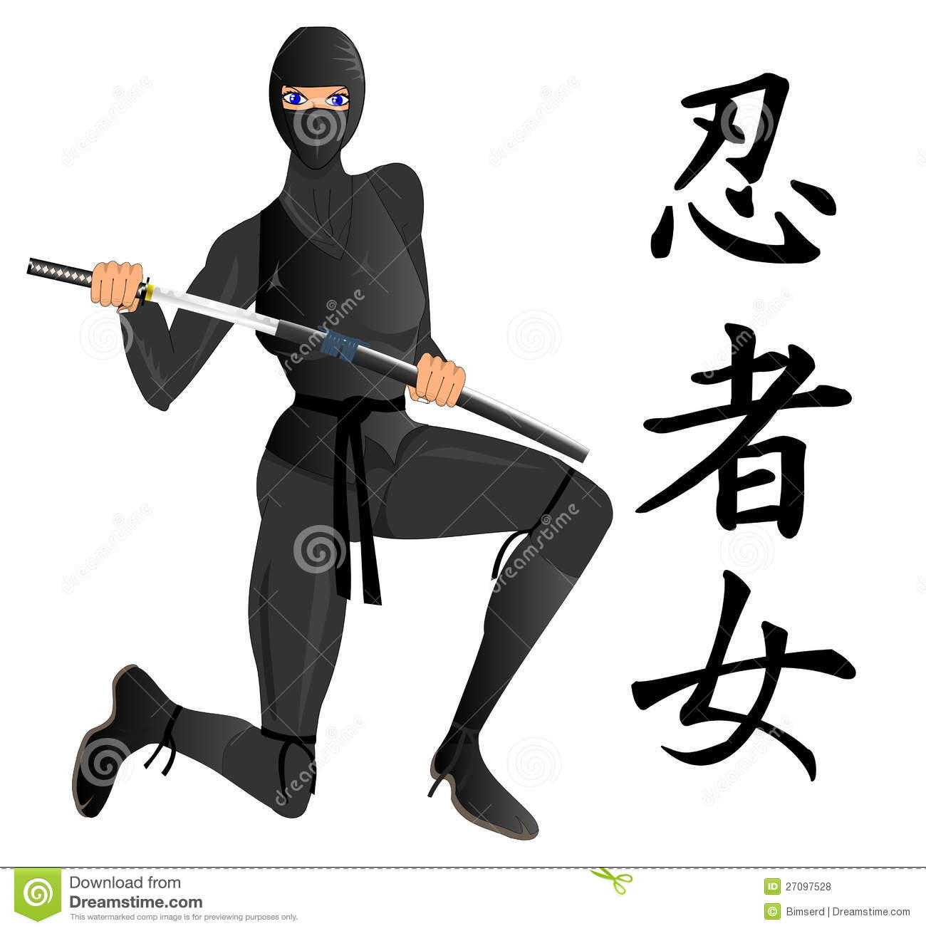 Ninja Woman Royalty Free Stock Photos - Image: 27097528