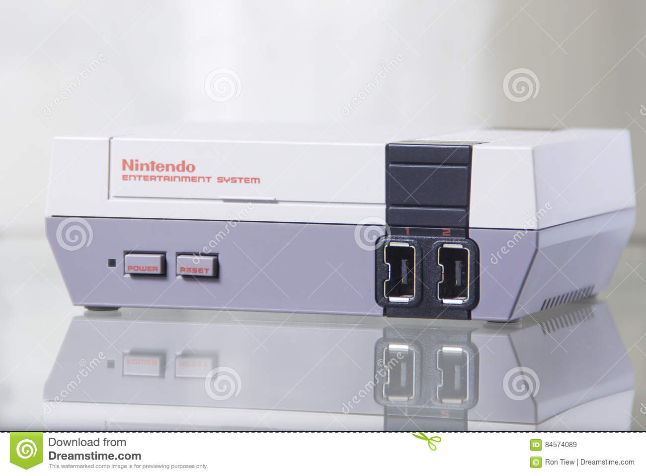 Nintendo NES Classic Edition With Reflection Editorial Stock Image