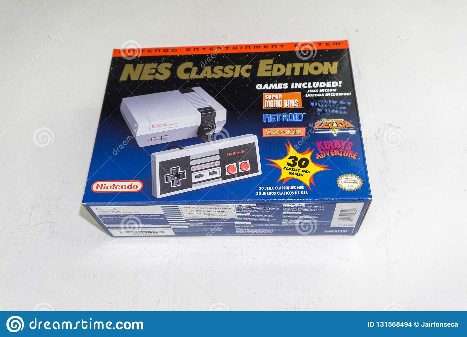 Nintendo Nes Classic Edition Video Game Console Editorial Stock