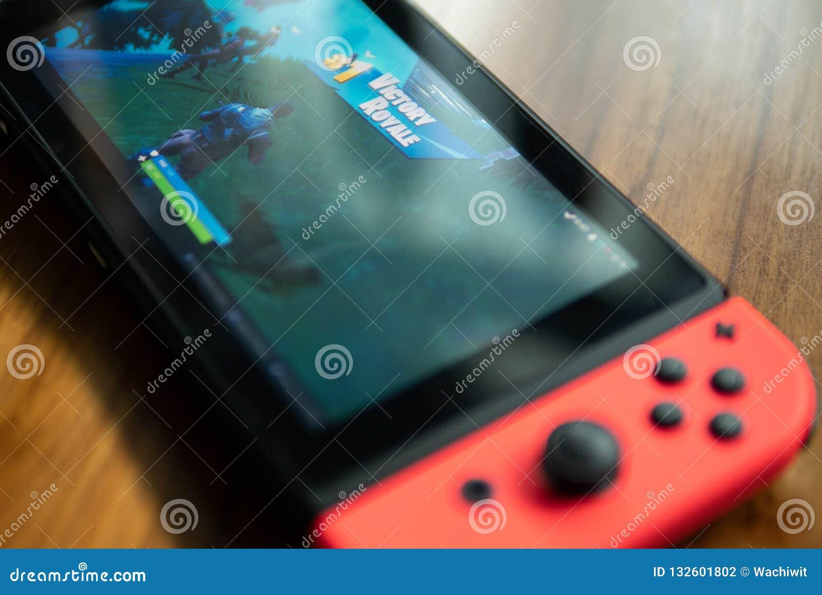 Nintendo-Schalter mit Fortnite-Spiel